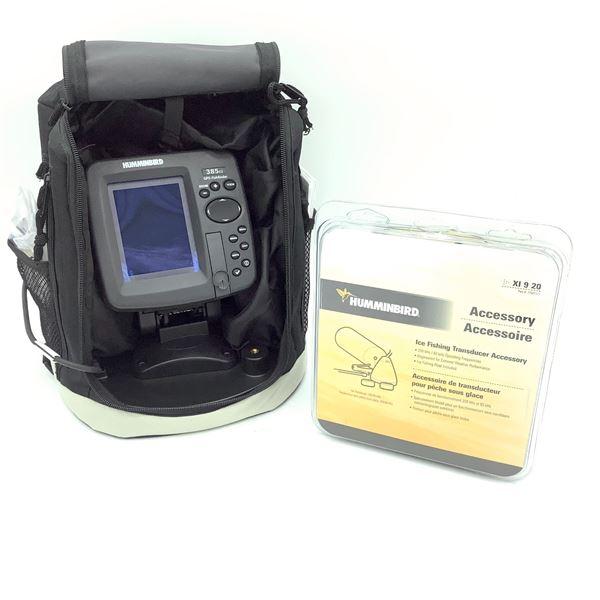 HummingBird 385ci Portable GPS FIsh Finder & HummingBird Ice Fishing Transducer Accessory Kit