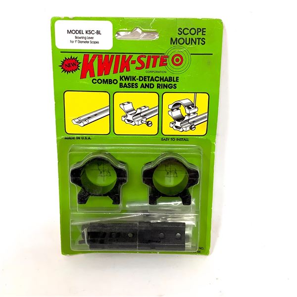 Kwik-Site Browning Lever Detachable Bases and Rings Combo, New