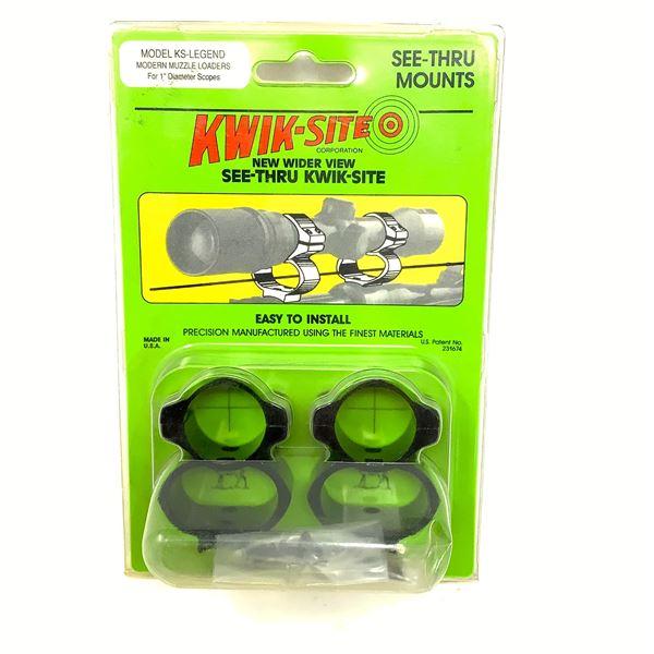 Kwik-Site KS- Legend Modern Muzzle Loader See-Thru Mounts, New