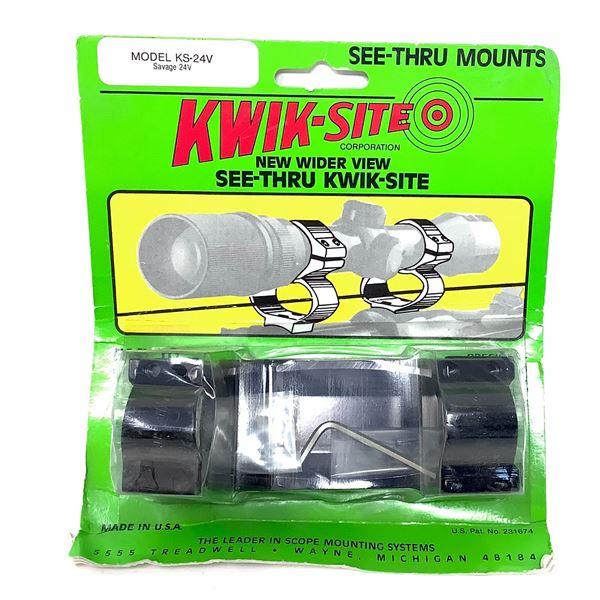 Kwik-Site Savage 24V See Thru Scope Mounts, New