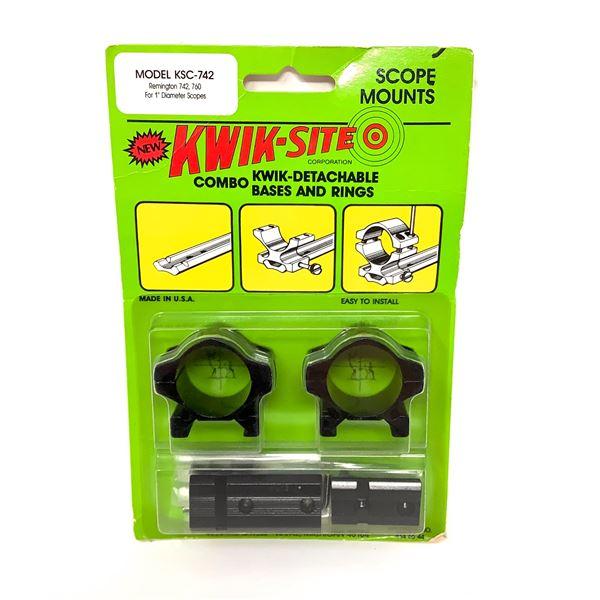 Kwik-Site Remington 742, 760 High See-Thru Mounts, New