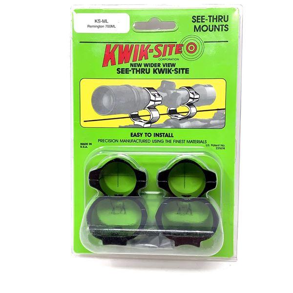 Kwik-Site Remington 700 ML See Thru Mounts, New