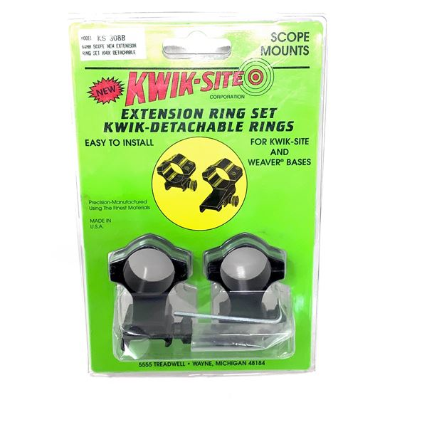 Kwik-Site 64 mm Scope Extension Quick Detachable Rings With Weaver Bases, New