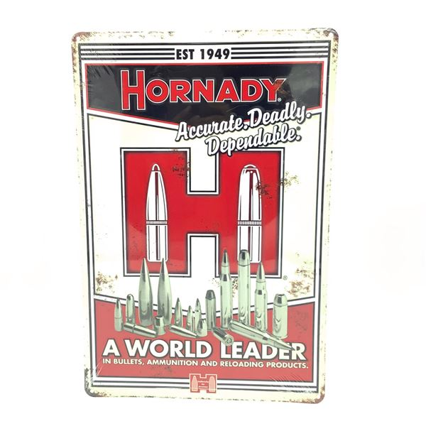 """Hornady 'Accurate' Tin Sign, 18"""" X 12"""", New"""