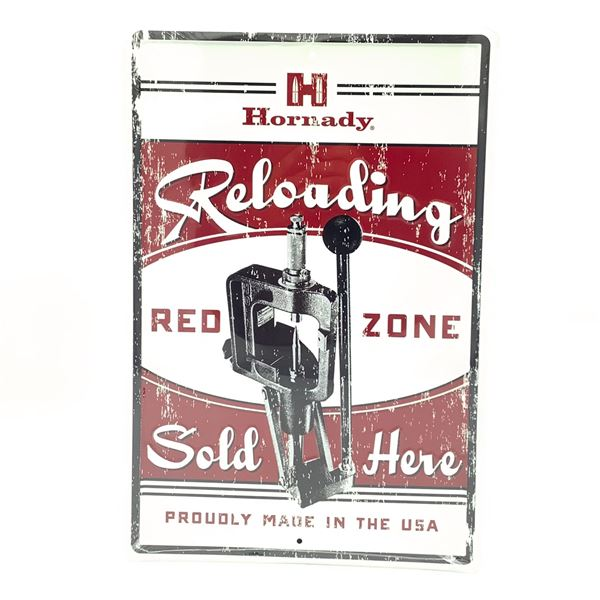 "Hornady 'Reloading' Tin Sign 18"" X 12"", New"