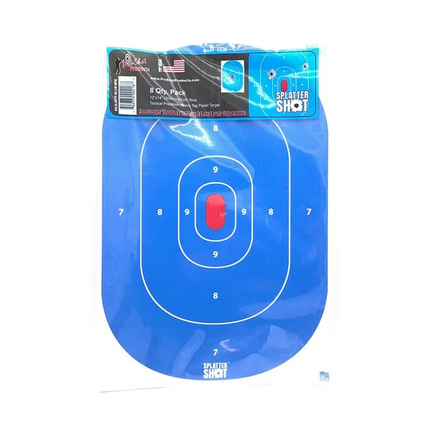 """Pro Shot Splatter Bullseye Targets, 18"""" X 12"""" 8 Pk, New"""