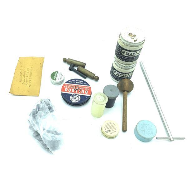Assorted Black Powder Pistol Reloading Equipment