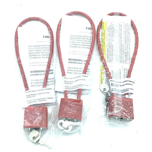 Cable Locks X 3, New