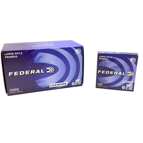 Federal Large Rifle Primers, 1000 Ct