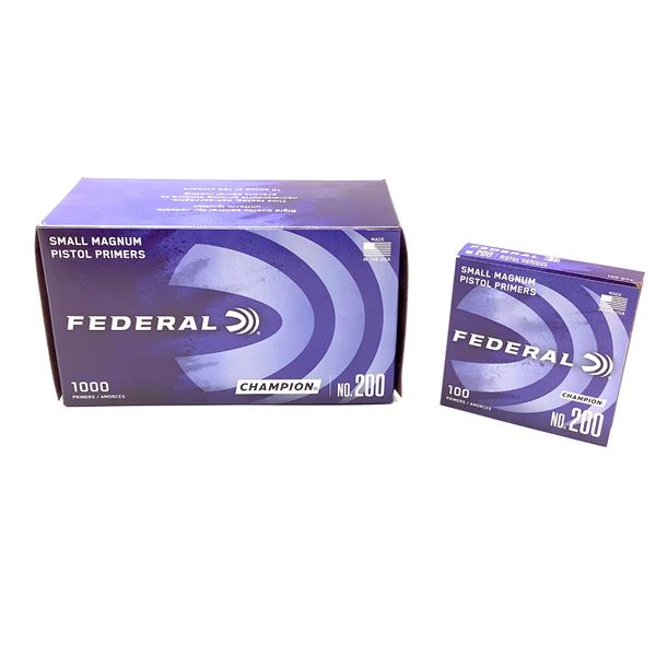 Federal Small Magnum Pistol Primers, 1000 Ct