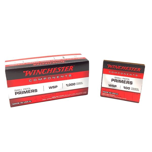 Winchester Small Pistol Primers, 1000 Ct