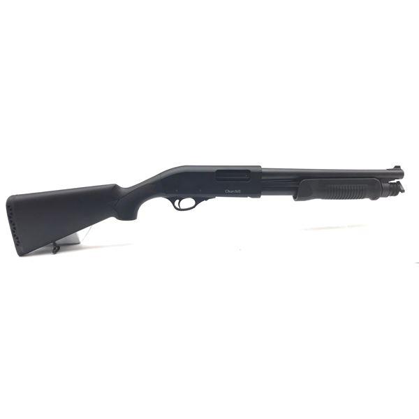 "Churchill Pump-Action Shotgun, 12.5"" Barrel, 12 Ga. 3"", Synthetic Stocks"
