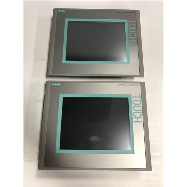 "(2) Siemens 1P 6AV6 643-0CD01-1AX1 MP277 10"" Touch"
