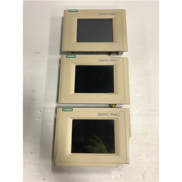 (3) Siemens 1P 6AV6 545-0BC15-2AX0 Touch Panel TP 170B Color