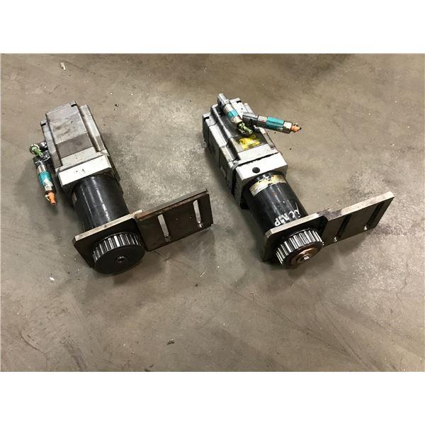 (2) Siemens 1FK7060-5AF71-1SB0 Servo Motor w/ Gear Head