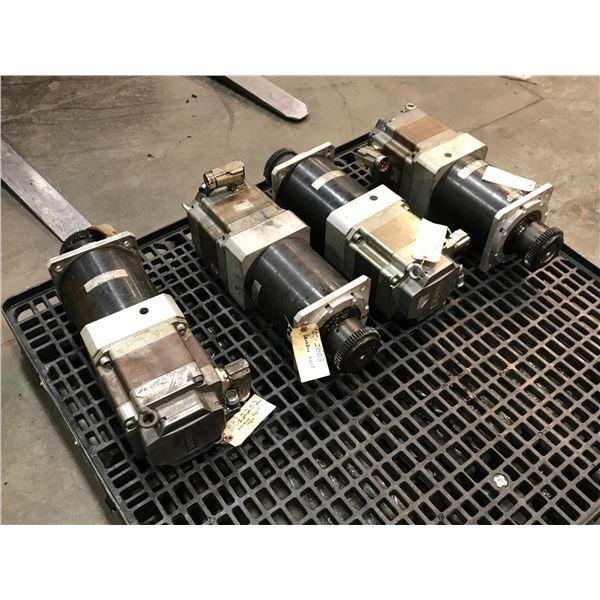 (4) Siemens 1FK7101-5AF71-1SA0 Servo Motor w/ Gear Head