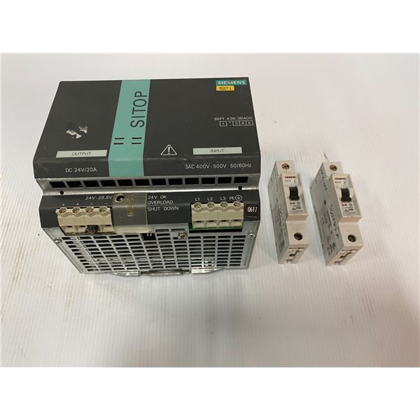 Lot Of Siemens Power Supply And Electrical Parts