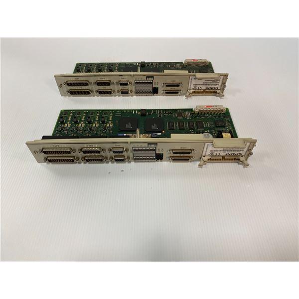 (2) Siemens # 6SN1118-0DM33-0AA1 Cards