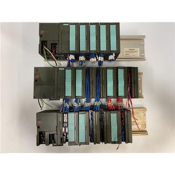 (3) Siemens Racks With Modules