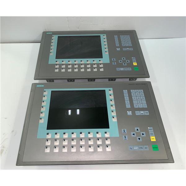 """(2) Siemens #6AV6 643-0DD01-1AX1 MP277 10"""" Key, Screens"""