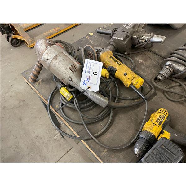 MILWAUKEE HEAVY DUTY INDUSTRIAL ELECTRIC ANGLE GRINDER & DEWALT DWE402 4 1/2 INCH ELECTRIC