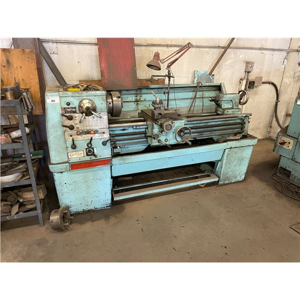 *H GALLIN CP1250 JET CHAMPION 1550 INDUSTRIAL METAL WORKING LATHE WITH ASSORTED TOOLING