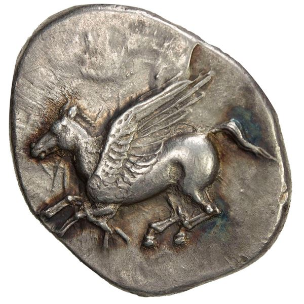 ACARNANIA: Leukas, AR stater (8.66g), ca. 320-280 BC. VF