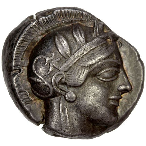 ATTICA: Athens, AR tetradrachm (17.14g), 454-404 BC. VF