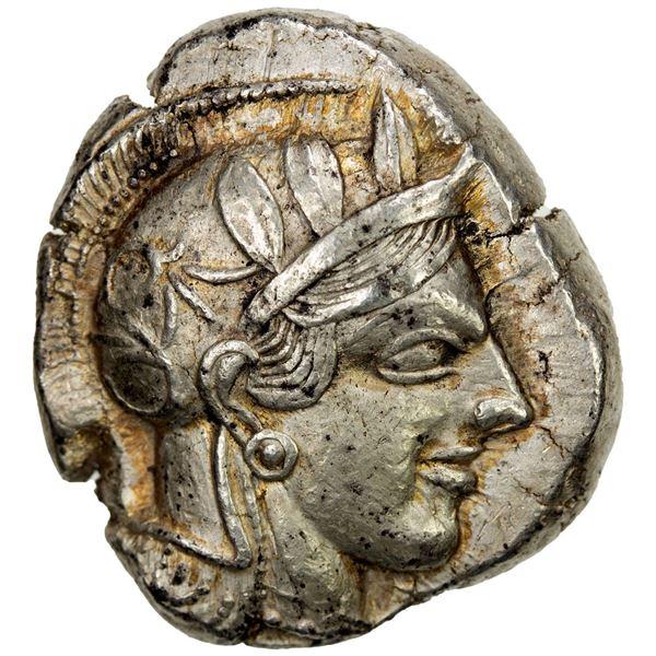 ATTICA: Athens, AR tetradrachm (17.15g), 454-404 BC. VF