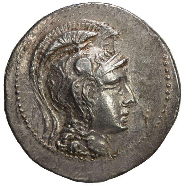 ATTICA: Athens, AR tetradrachm (16.56g), 138/7 BC. VF