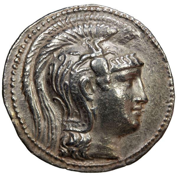 ATTICA: Athens, AR tetradrachm (16.78g), 137/6 BC. VF
