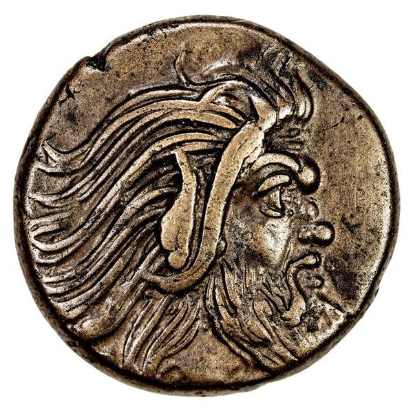 BOSPOROS: Pantikapaion, AE20 (7.56g), ca. 310-303 BC. VF-EF