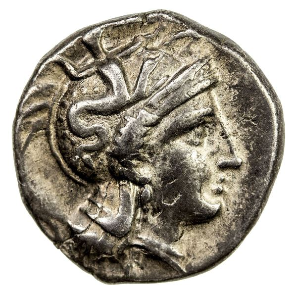 CALABRIA: Tarentum, AR drachm (3.25g), ca. 302-280 BC. VF