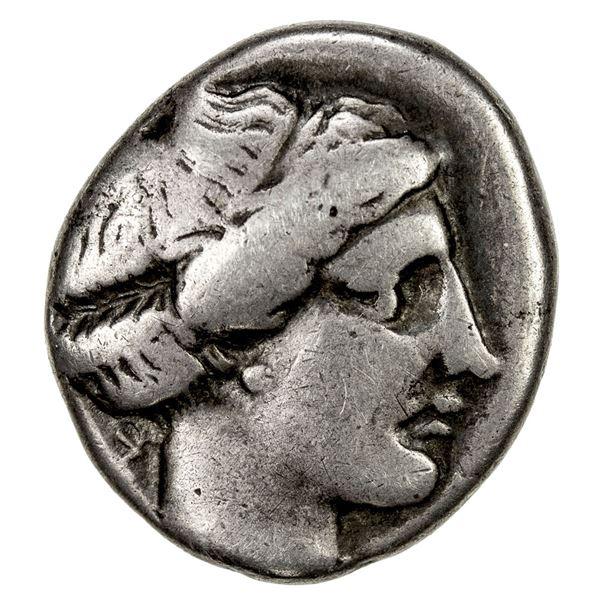 CAMPANIA: Cumae, AR didrachm (7.32g), ca. 420-385 BC. F