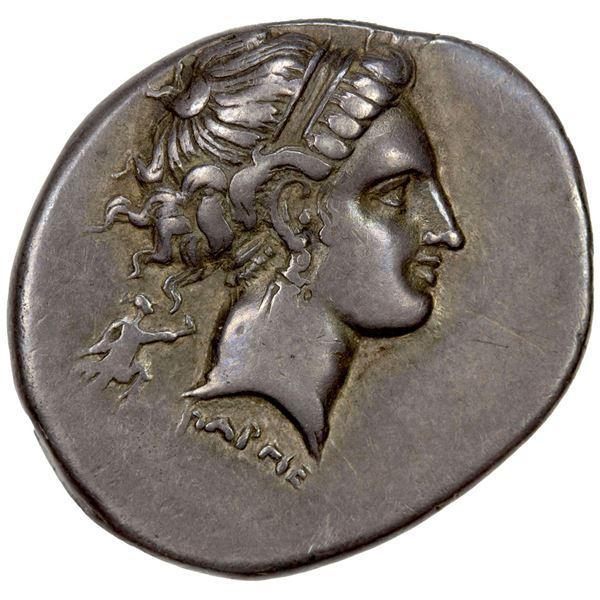 CAMPANIA: Neapolis, AR nomos (7.26g), ca. 320-300 BC. VF