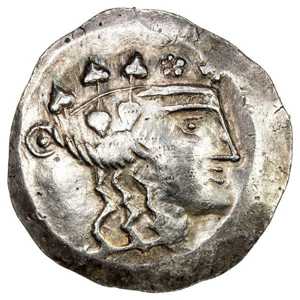 CELTIC CENTRAL EUROPE: Danube Region, AR tetradrachm (16.53g), ca. 1st century BC. VF-EF