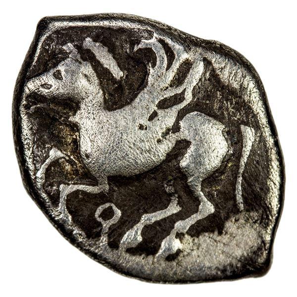 CORINTHIA: Corinth, AR drachm (2.74g), ca. 550-500 BC. VG-F
