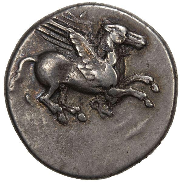 CORINTHIA: Corinth, AR stater (8.46g), ca. 405-345 BC. VF