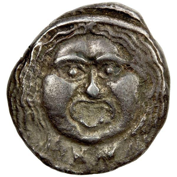 ETRURIA: Populonia, AR didrachm (20 asses) (8.07g), 3rd century BC. EF