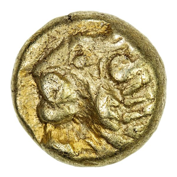 IONIA: Miletos, EL hemihekte (1/12 stater) (1.14g), 600-550 BC. VF