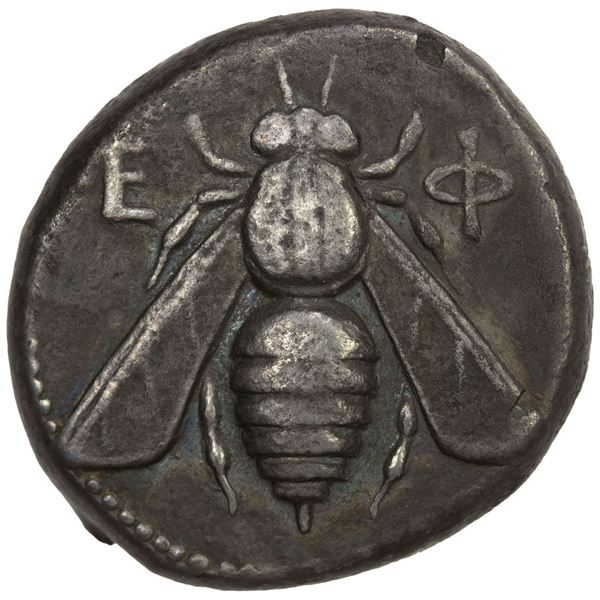 IONIA: Ephesos, Goneos, magistrate, AR tetradrachm (14.86g), ca. 360-350 BC. VF