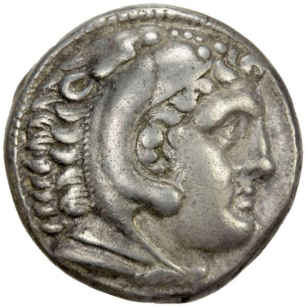 MACEDONIAN KINGDOM: Alexander III 'the Great', 336-323 BC, AR tetradrachm (16.95g), Amphipolis, ca.