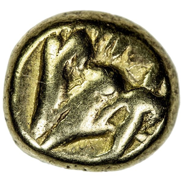 MYSIA: Kyzikos, EL hekte (1/6 stater) (2.64g), ca. 550-500 BC. F-VF