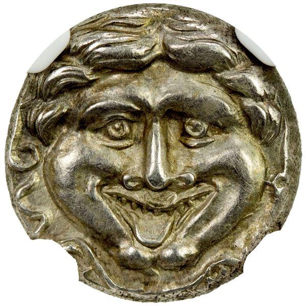 MYSIA: Parion, AR hemidrachm (2.39g), ca. 4th century BC. NGC AU