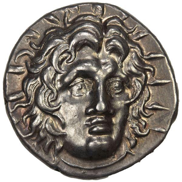 RHODES: Mnasimachos, magistrate, AR didrachm (6.79g), ca. 250-229 BC. EF