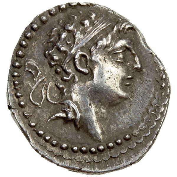 SELEUKID KINGDOM: Demetrios I Soter, 162-150 BC, AR drachm (4.01g). EF