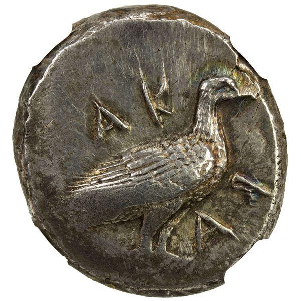 SICILY: Akragas, AR didrachm (8.65g), ca. 500-470 BC. NGC AU