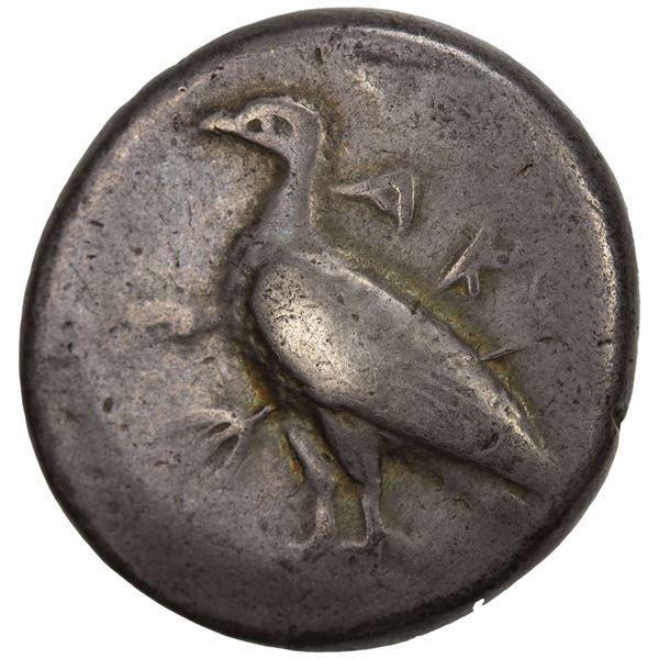 SICILY: Akragas, AR didrachm (8.52g), ca. 480-470 BC. F-VF