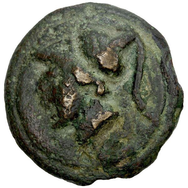 ROMAN REPUBLIC: Anonymous, AE aes grave triens (84.96g), 225-217 BC. VF