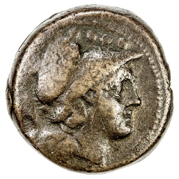 ROMAN REPUBLIC: Anonymous, AE triens (13.57g), Rome, after 211 BC. F-VF